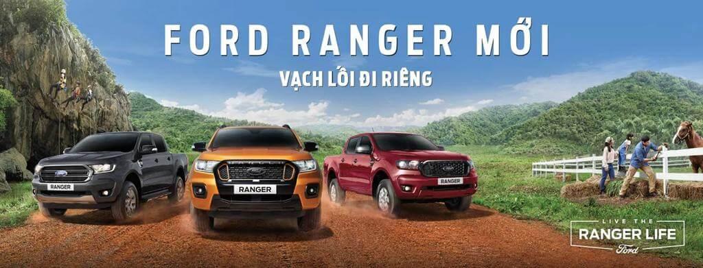 Giá xe Ford Ranger 2021 lăn bánh