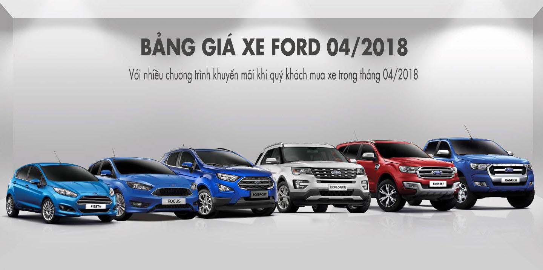 Bảng giá xe Ford tháng 44/2018