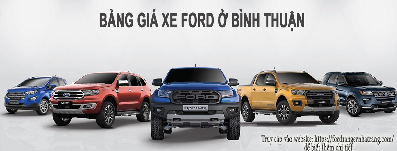 Ford Bình Thuận - Bảng giá xe Ford ở Bình Thuận
