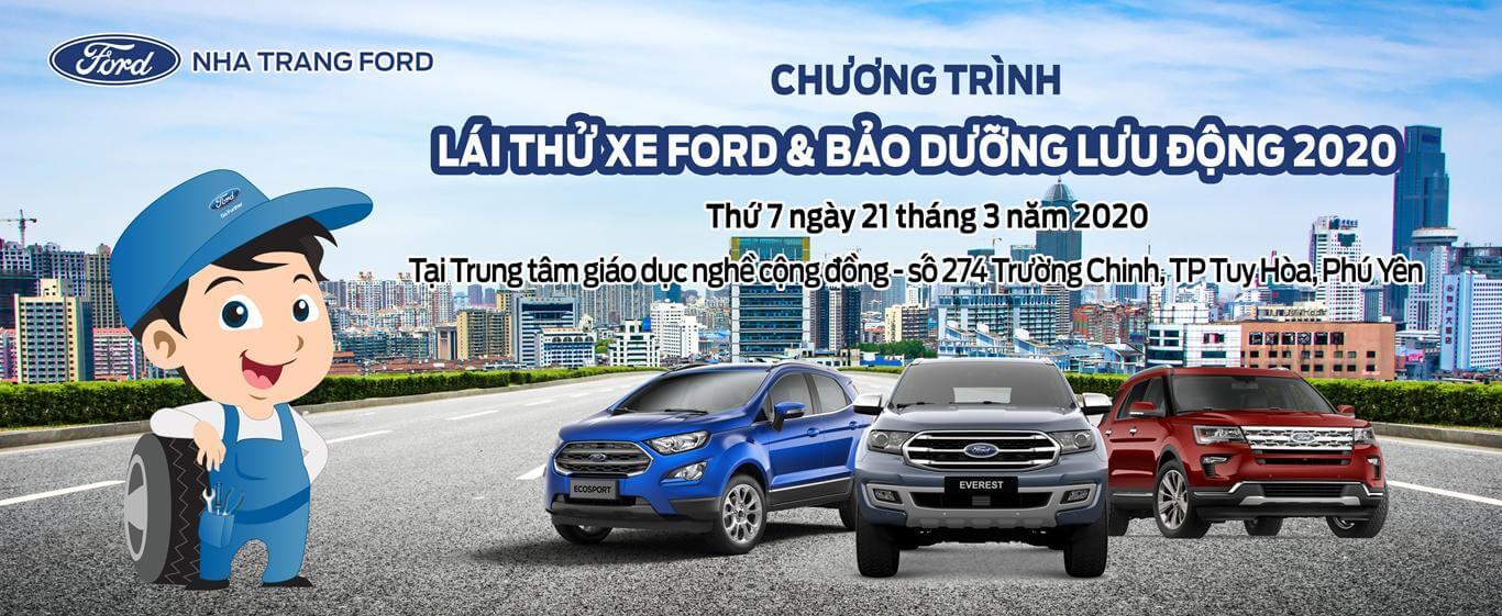Lái thử xe Ford và Bảo dưỡng lưu động tại Phú Yên