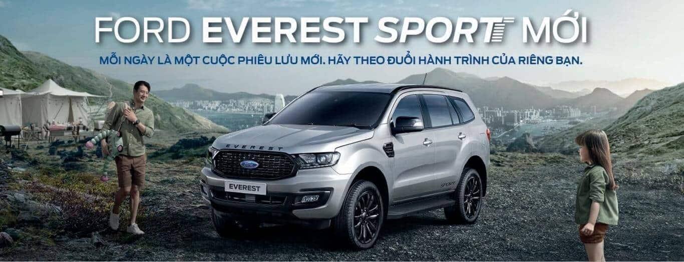 Ford Everest Sport 4x2 2021:Thông số kỹ thuật, giá xe